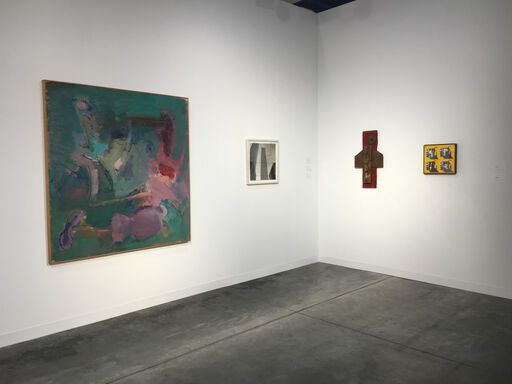 An installation view of the Franklin Parrasch Gallery booth at Art Basel Miami Beach 2016.
