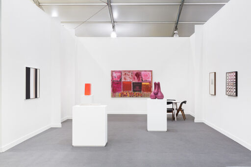 An installation view of the Franklin Parrasch Gallery booth at Frieze New York in 2017.